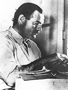 Ernest Hemingway. Photo courtesy of Wikipedia.