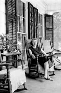 Flannery on porch